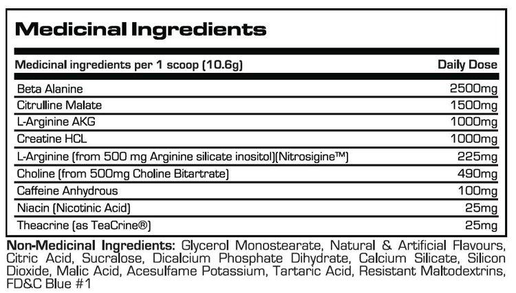 Ingredients for ProSupps: Dr. Jekyll NitroX (30 serving)