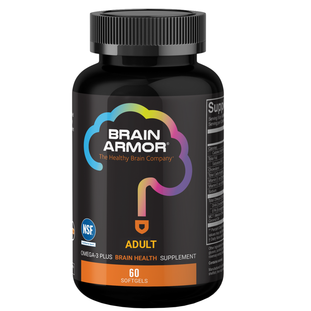 Brain Armor  Brain Armor Adult Super Omega-3+ Vegan Liquid Concentrate (60 Softgels)
