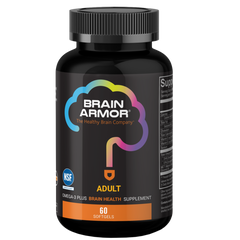 Brain Armor Adult Super Omega-3+ Vegan Liquid Concentrate(60 Softgels)