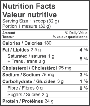 Ingredients for WHEY PROTEIN (2lb)