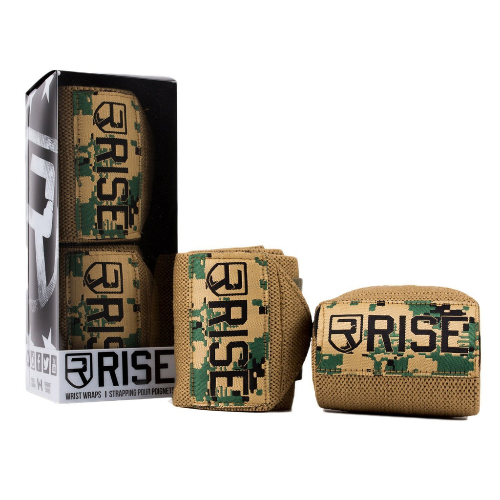 rise  WRIST WRAPS – Digital Camo (Limited Edition)