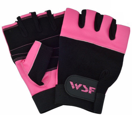World Standard Fitness World Standard Fitness Griptech High Traction Pink Exercise/Lifting Gloves