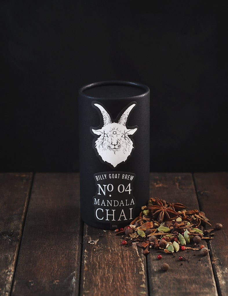 billy goat brew loose leaf tea mandala chai canister