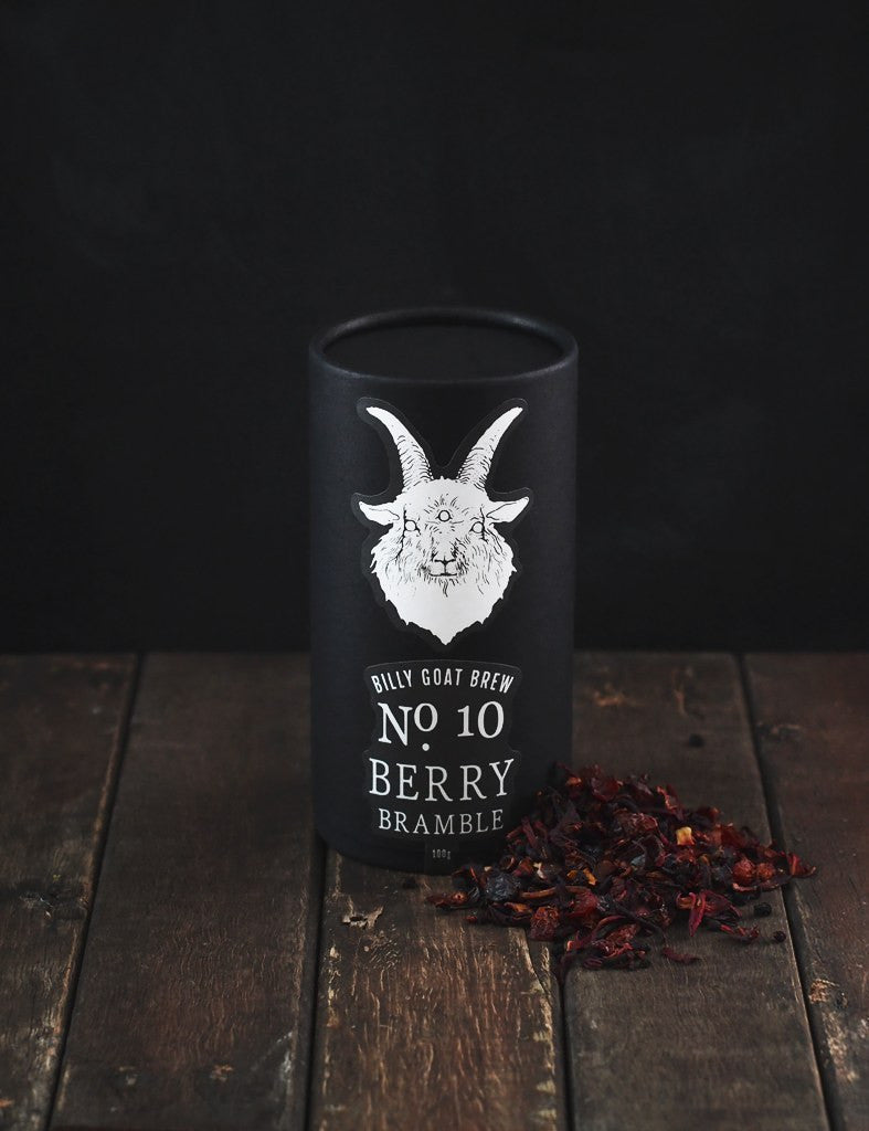 billy goat brew loose leaf tea tisane berry bramble canister