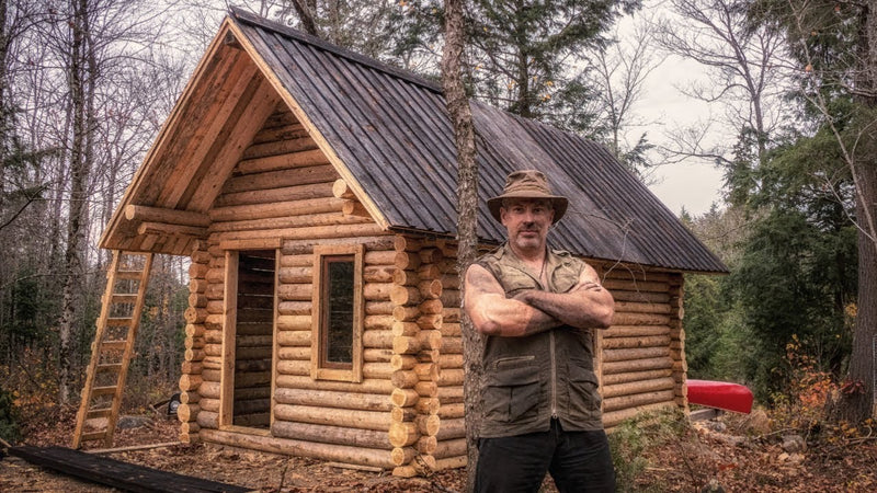 EPIC Log Cabin TIMELAPSE Built By ONE MAN In The Forest🍁
