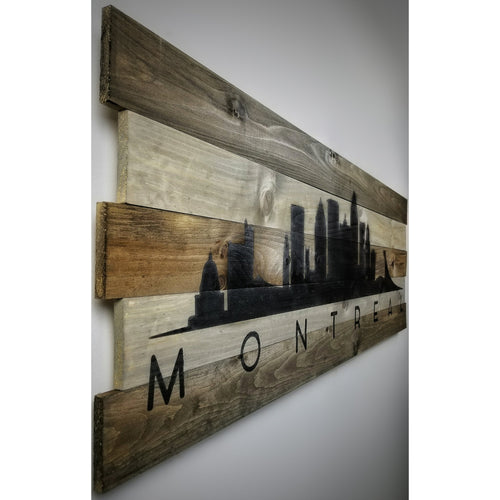 Skyline on Wood - 2