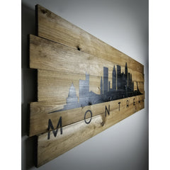 Skyline on Wood - 3