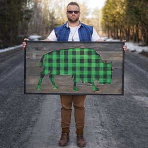 Barnwood Bison | Plaid