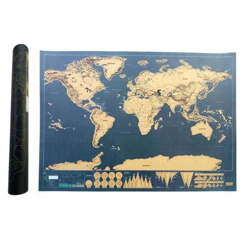 75% Off | Deluxe Scratch Off Map | World Travel Edition - Aries Den