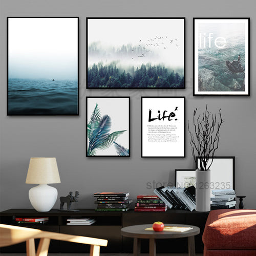 Sea Meets Forest Canvas Print