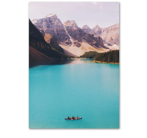 Blue Alberta Canvas Print