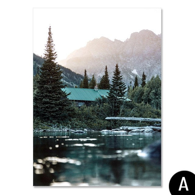 Northern Cabin Canvas Print