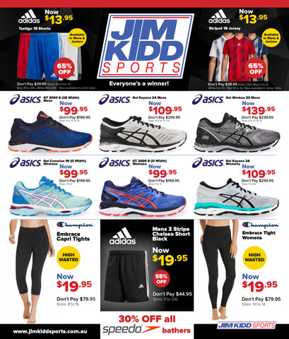 Jim Kidd Sports August 31st Catalogue
