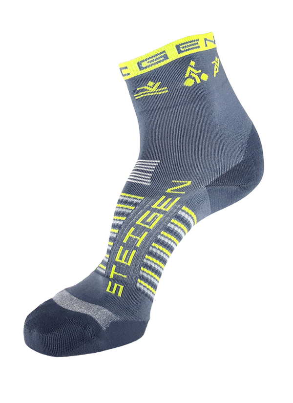 STEIGEN Premium Running Socks - 1/2 Length<br> BR Triathlon