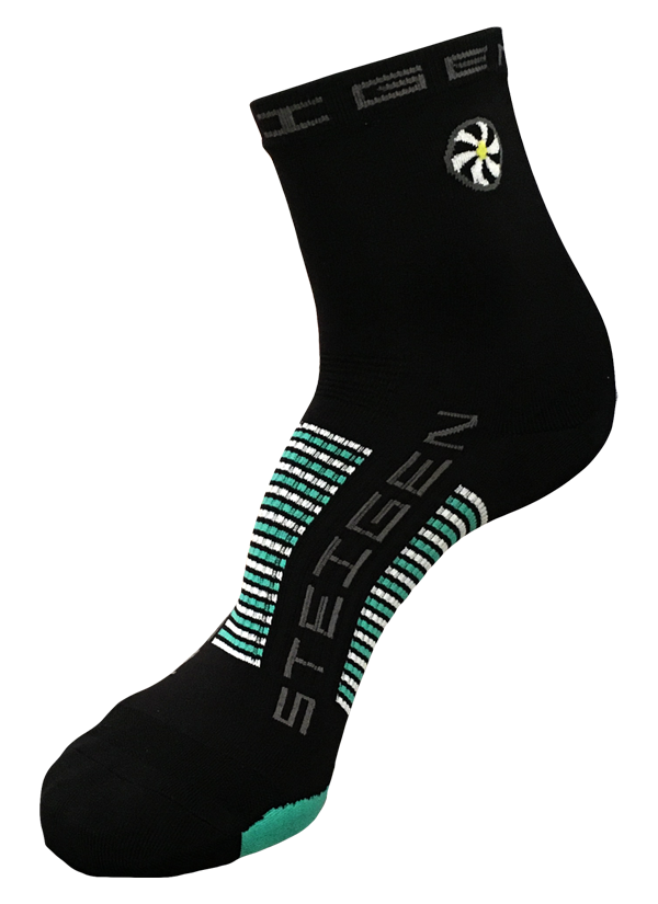 STEIGEN Premium Running Socks - 1/2 Length<br> Black