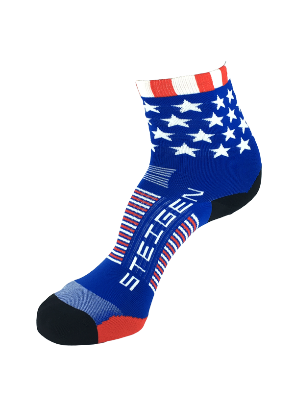 STEIGEN Premium Running Socks - 1/2 Length<br> Stars & Stripes