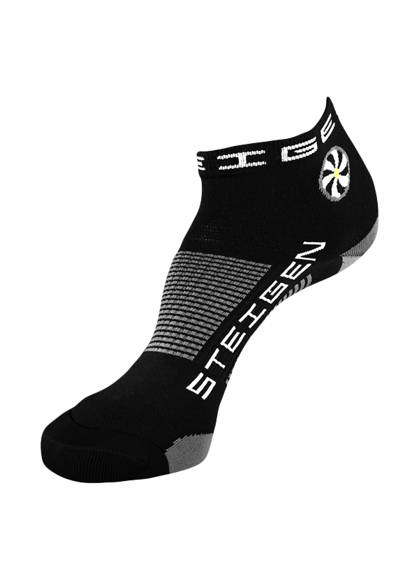 STEIGEN Premium Running Socks - 1/4 Length<br> Black