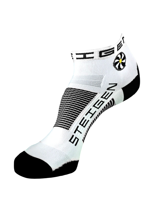 STEIGEN Premium Running Socks - 1/4 Length<br> White