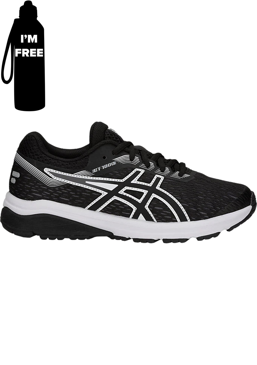 ASICS GT 1000 7 GS JUNIOR  WITH FREE DRINK BOTTLE<br> 1014A005 002