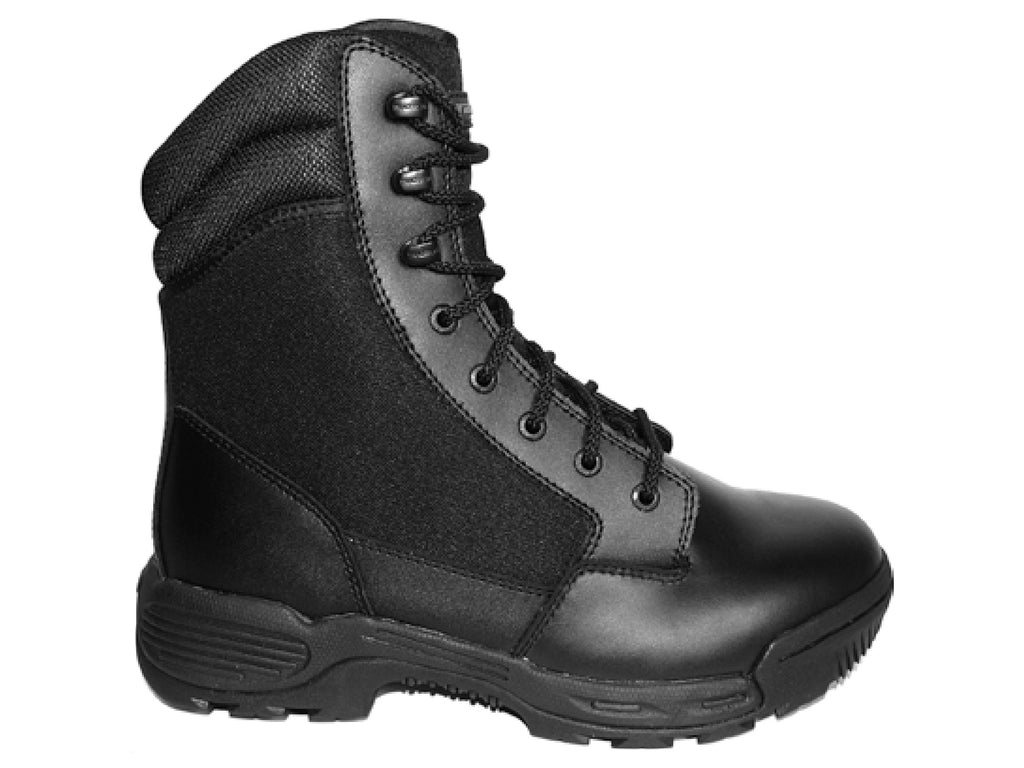 TRACERLITE MENS 8 INCH LEATHER CORDURA BOOTS SIDE ZIP <BR> ET1002