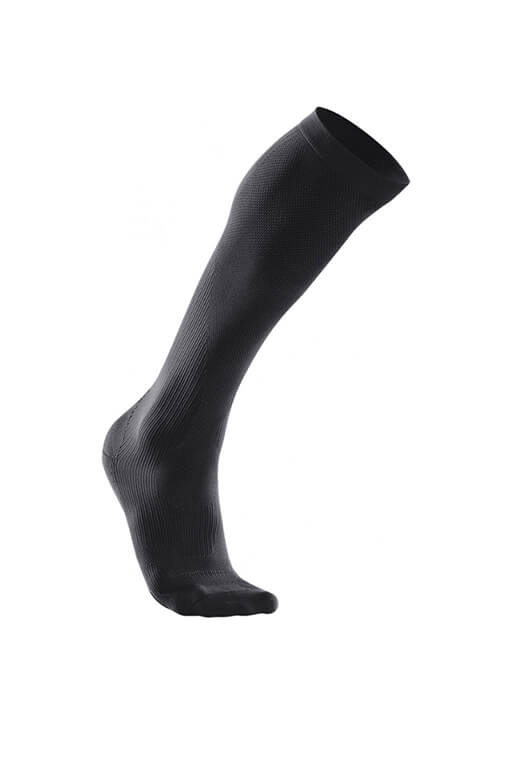 2XU COMPRESSION PERFORMANCE RUN SOCK MENS <br> MA2442e BLK/BLK