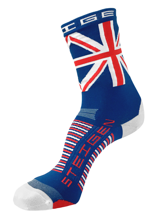STEIGEN Premium Running Socks - 3/4 Length<br> Union Jack