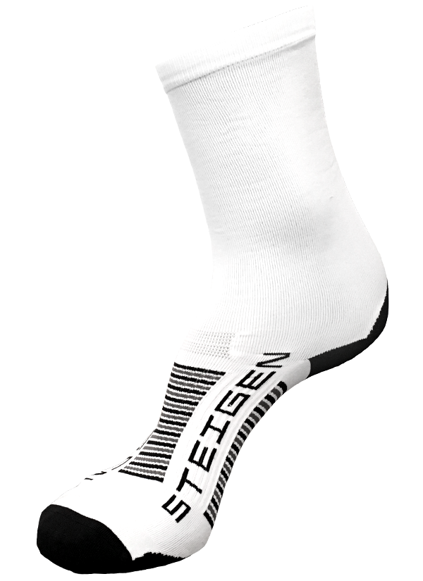 STEIGEN Premium Running Socks - 3/4 Length<br> White