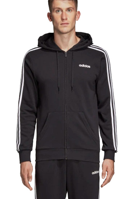 a181db75 ADIDAS ESSENTIALS 3 STRIPES FULL ZIP FRENCH TERRY HOODIE MENS DQ3102