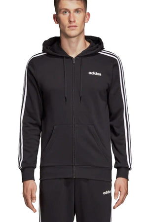 ADIDAS ESSENTIALS 3 STRIPES FULL ZIP FRENCH TERRY HOODIE MENS <br> DQ3102