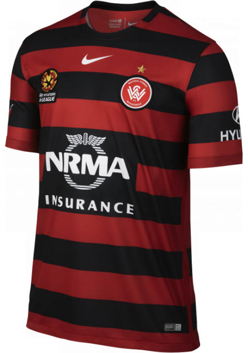 NIKE MENS 2015/2016 WESTERN SYDNEY WANDERERS REPLICA HOME JERSEY <BR> 746935 648