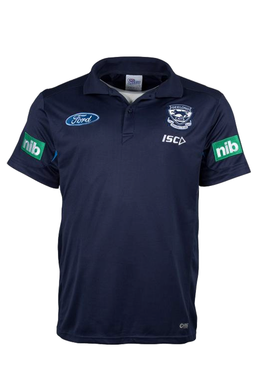 ISC GEELONG CATS MEDIA POLO MENS <br> 7GC4POL1A,- Jim Kidd Sports