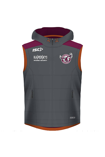 ISC MANLY WARRINGAH SEA EAGLES PADDED VEST MENS <br> 7MW5VST1A,- Jim Kidd Sports
