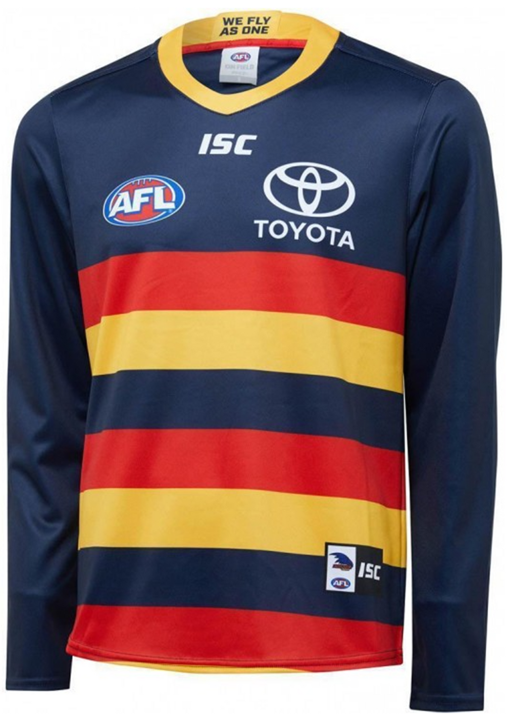 ISC ADELAIDE CROWS 2020 MENS L/S HOME GUERNSEY <br> AC20JSY05M