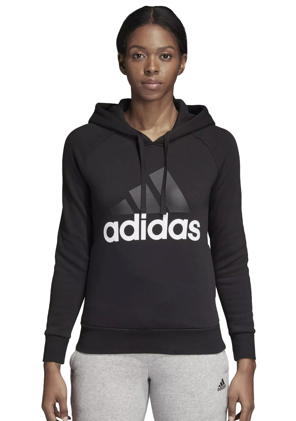 ADIDAS ESSENTIALS LINEAR FLEECE HOODIE WOMENS <br> BK7060