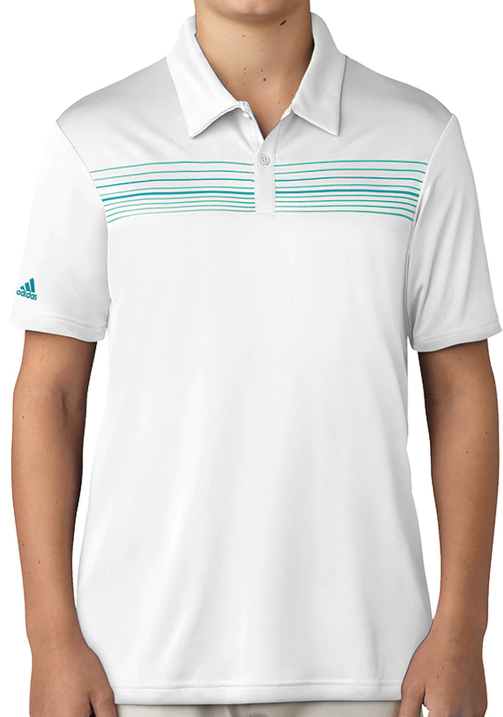 ADIDAS JUNIOR CLIMACOOL CHEST PRINT POLO <BR> BC7628
