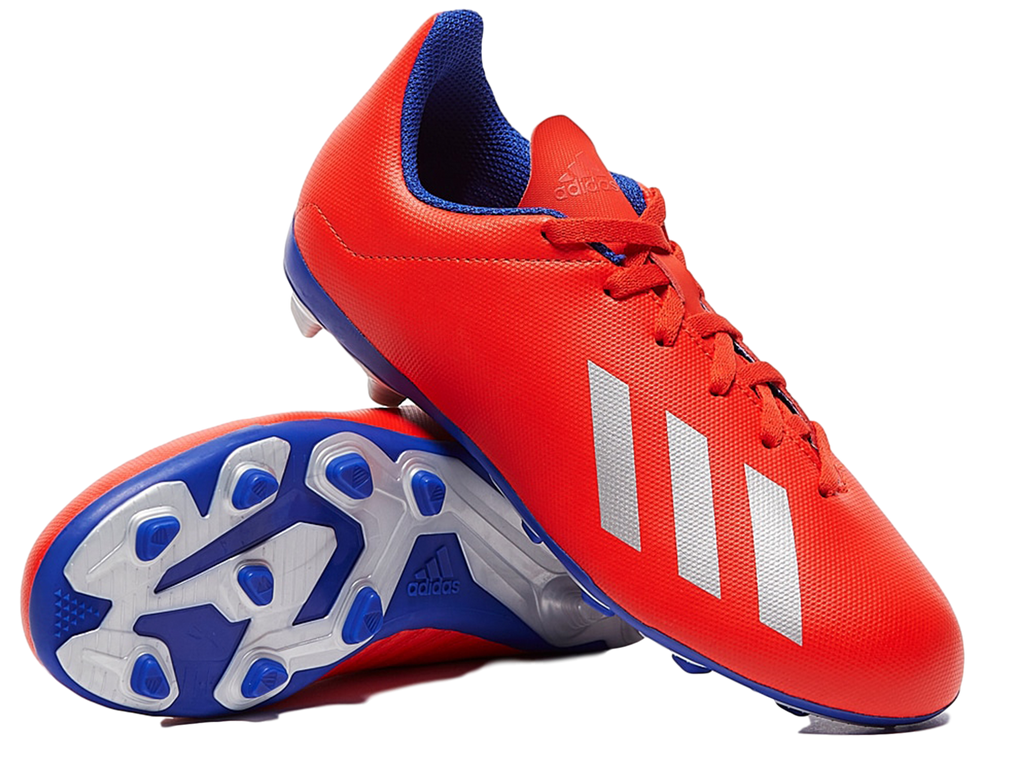 ADIDAS JUNIOR X 18.4 FXG (FLEXIBLE GROUND) BOOTS <br> BB9379