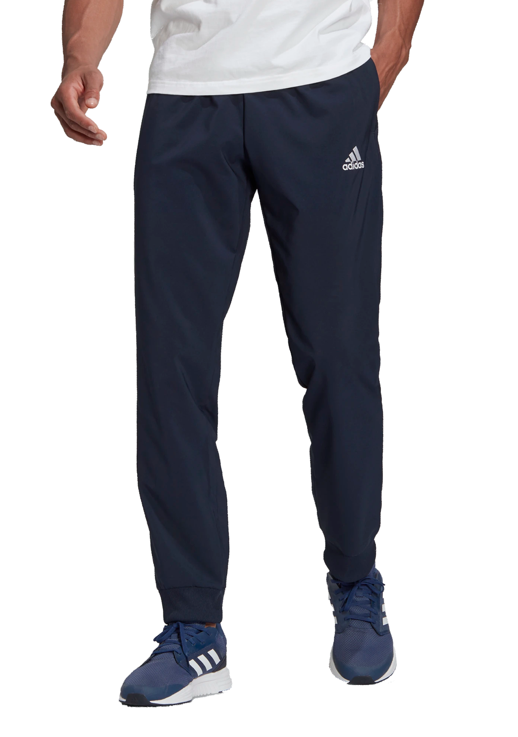 ADIDAS MENS AEROREADY ESS STANFORD CUFF PANTS NAVY<br> GK8894