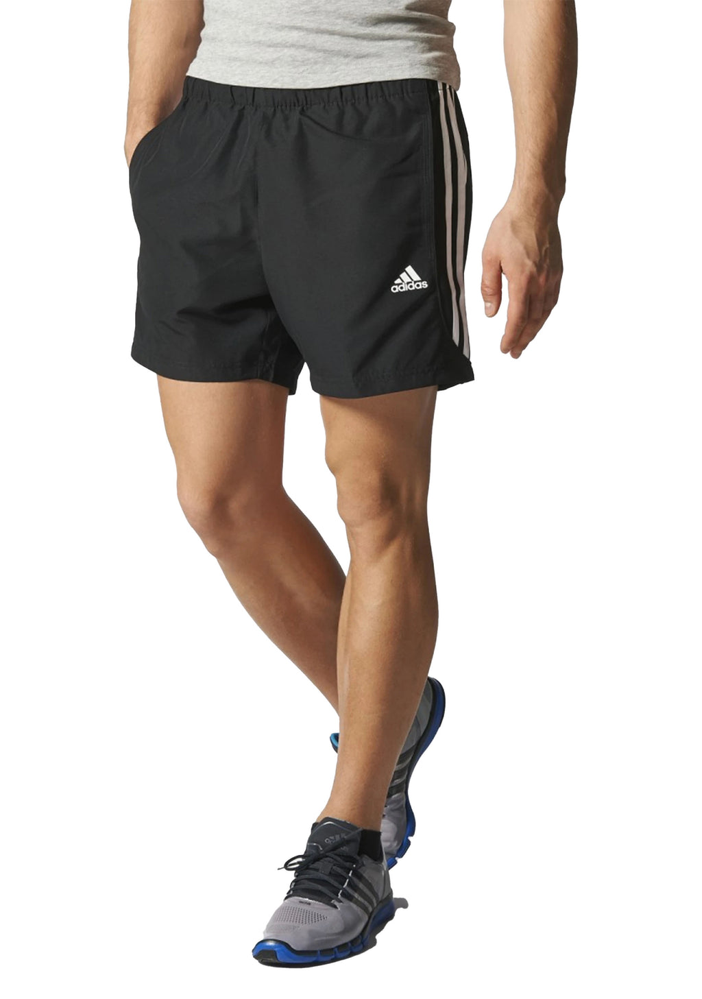 ADIDAS ESSENTIALS 3 STRIPES CHELSEA SHORTS MENS BLACK <br> S88113