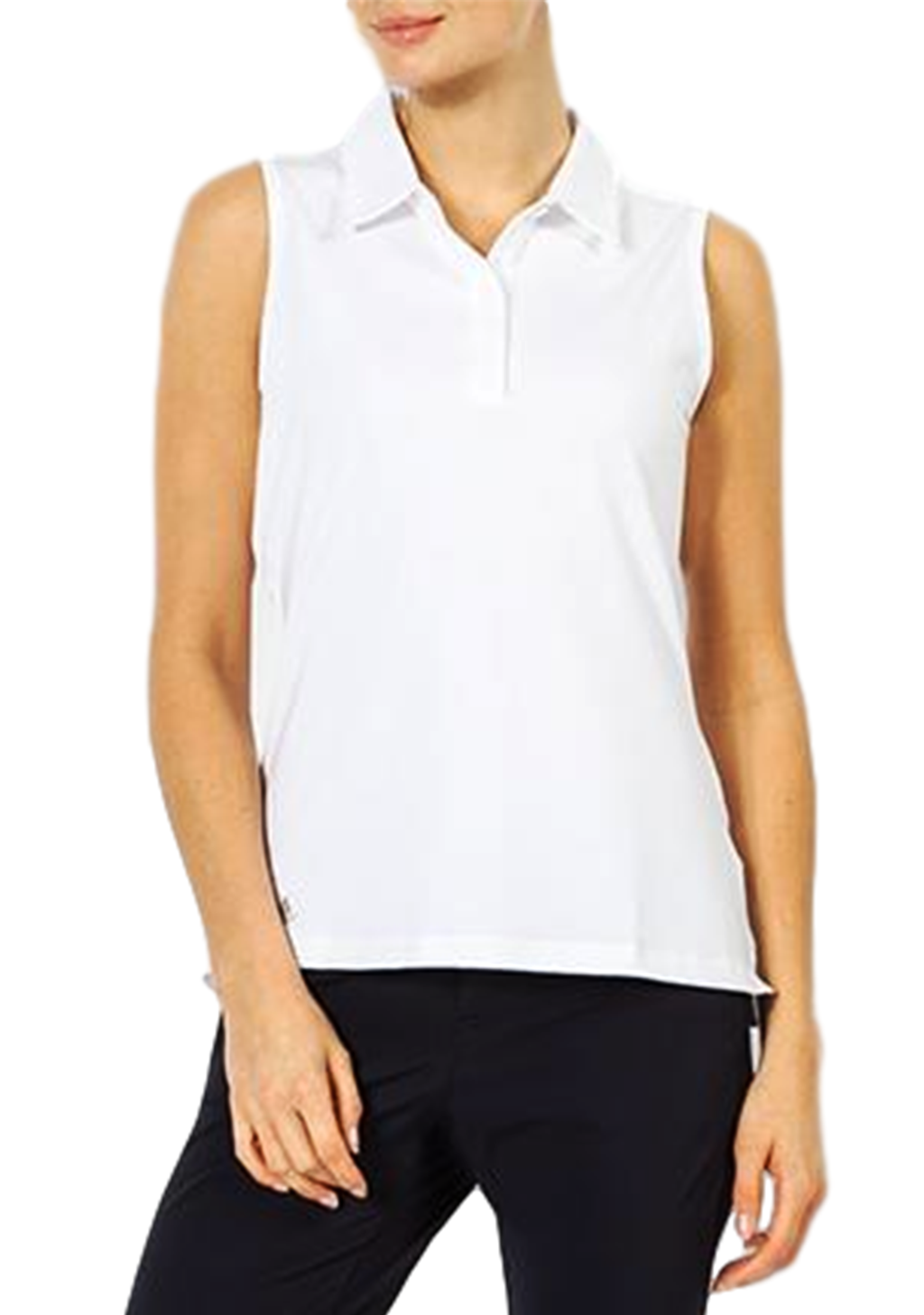 ADIDAS WOMENS ULTIMATE SLEEVELESS POLO <BR> CE3079