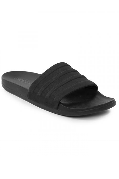 ADIDAS ADILETTE COMFORT SLIDES MENS WITH FREE 3 STRIPE TEE <br> S82137