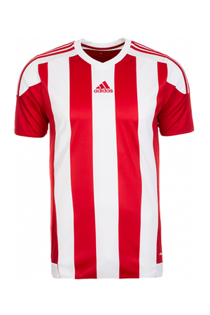 ADIDAS STRIPED 15 JERSEY JUNIOR RED AND WHITE <br> S16137,- Jim Kidd Sports