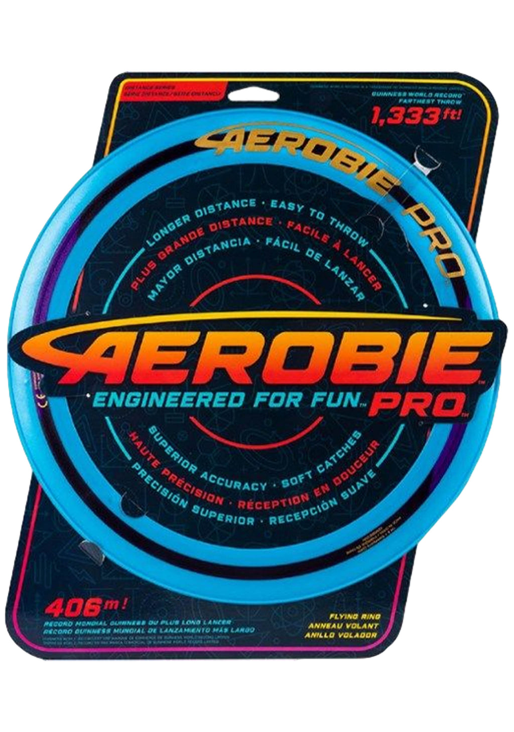 AEROBIE PRO 13 INCH FLYING DISC <BR> BLUE