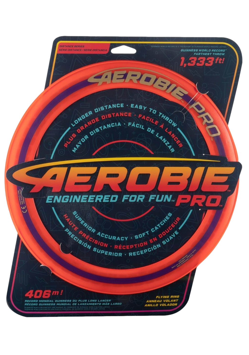 AEROBIE PRO 13 INCH FLYING DISC <BR> ORANGE