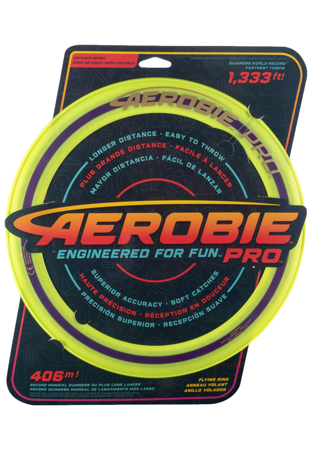 AEROBIE PRO 13 INCH FLYING DISC <BR> YELLOW