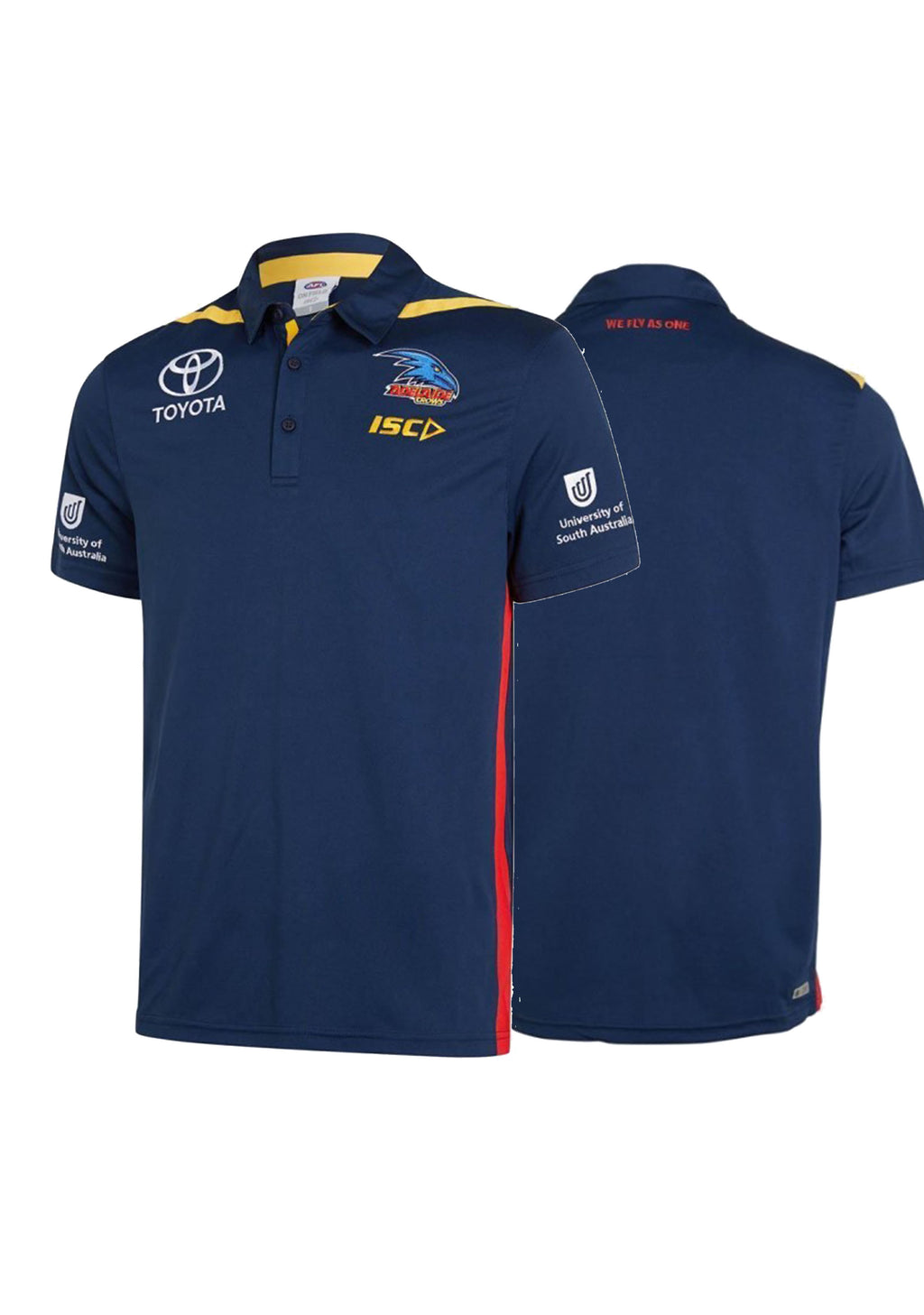 ISC ADELAIDE CROWS 2019 MENS MEDIA POLO <BR> AC19POL01M