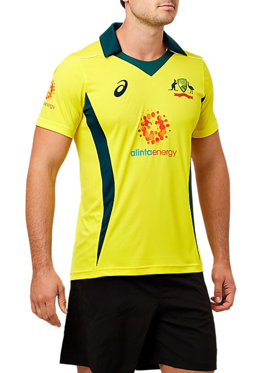 ASICS MENS CRICKET AUSTRALIA 2018 REPLICA ODI HOME SHIRT <br> 2111A043 750