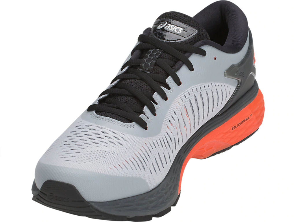 ASICS MENS GEL-KAYANO 25 MID GREY/NOVA ORANGE <BR> 1011A019 022