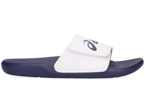 ASICS UNISEX ADJUSTABLE SLIDES AS002 WHITE/INDIGO <BR> 1173A005 100