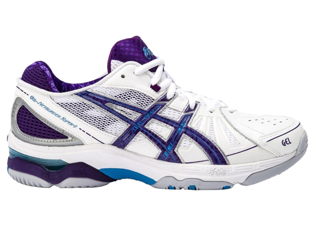 ASICS WOMENS GEL NETBURNER SUPER 4 <BR> R450Y 0145