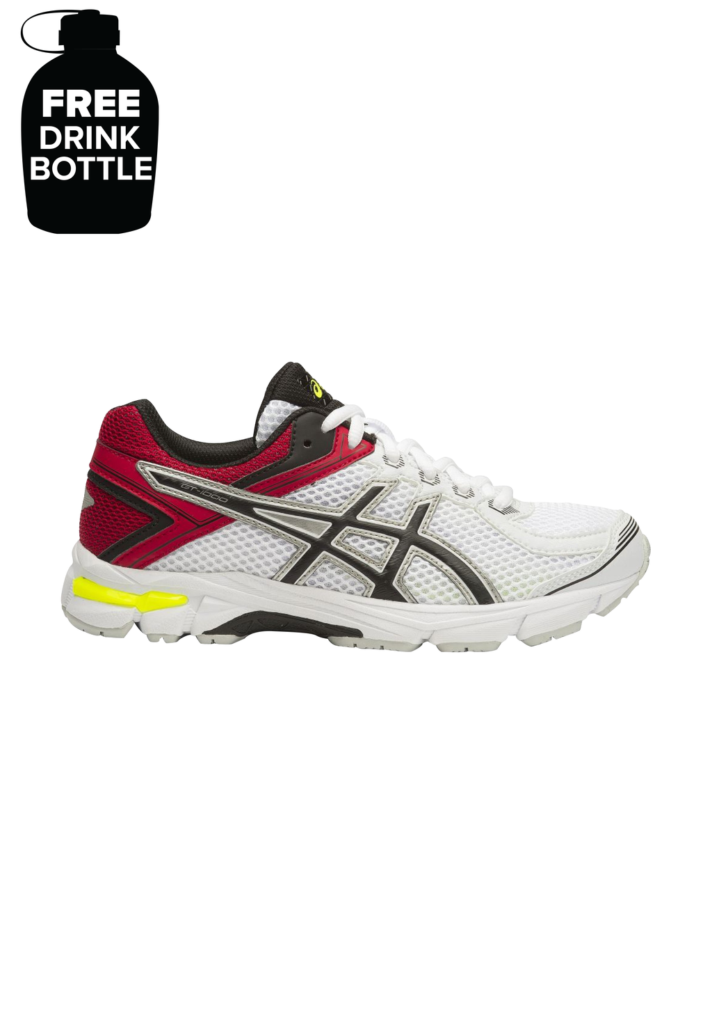 ASICS GT 1000 4 GS JUNIOR WITH FREE 1L BOTTLE <br> C558N 0190